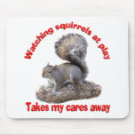 Squirrels at Play Mouse Pads