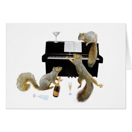 Squirrels at the Piano Card
