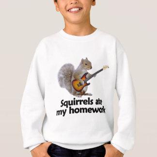 Squirrels ate my homework sweatshirt