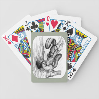 Squirrels Bicycle Playing Cards