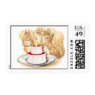 Squirrels Birthday Stamp