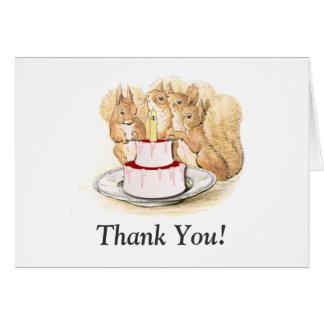 Squirrels Birthday Thank You Card