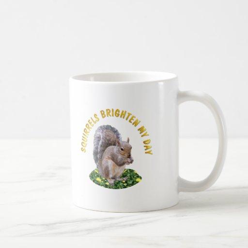 Squirrels Brighten My Day Classic White Coffee Mug