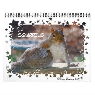 Squirrels Calendar