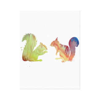 Squirrels Canvas Print