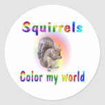 Squirrels Color My World Stickers