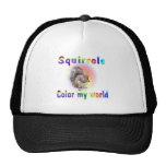 Squirrels Color My World Trucker Hat