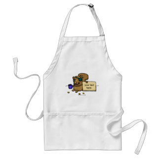 Squirrels - Down on luck Adult Apron