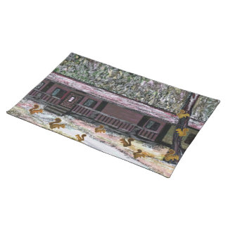 Squirrels Early Snowfall American Mojo Placemats