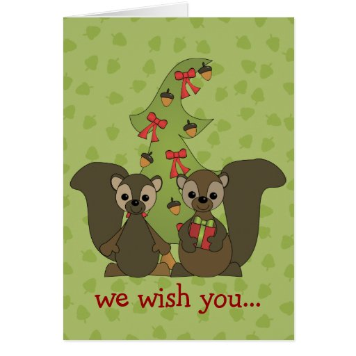 Squirrels for the Holidays Card