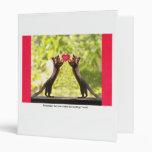 Squirrels in Love 3 Ring Binders
