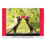 Squirrels in Love Greeting Card