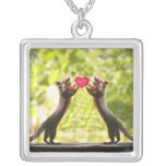 Squirrels in Love Necklace