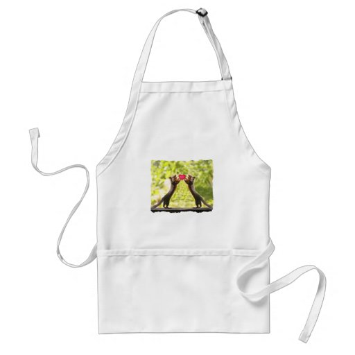 Squirrels in Love Photo Adult Apron