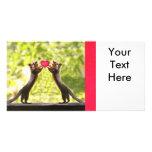 Squirrels in Love Photo Custom Photo Card