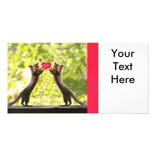 Squirrels in Love Photo Photo Card