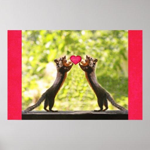 Squirrels in Love Photo Print