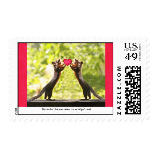 Squirrels in Love Postage