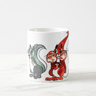 Squirrels Love at first sight Classic White Coffee Mug