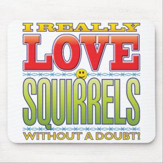 Squirrels Love Face Mousepads