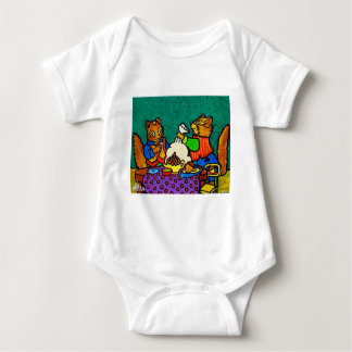 Squirrels  lunch by Piliero Baby Bodysuit