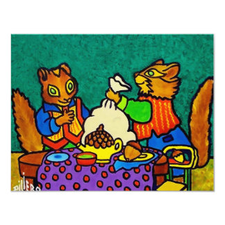 Squirrels  lunch by Piliero Card