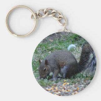 Squirrels Lunch Time Keychain
