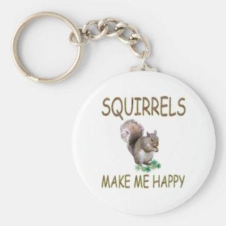 Squirrels Make Me Happy Keychain
