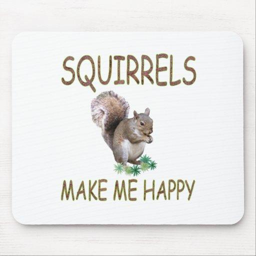 Squirrels Make Me Happy Mouse Mats
