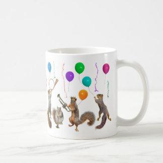 Squirrels Music Party Mug