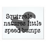 "Squirrels : Natures Little Speedbumps 4.25"" X 5.5"" Invitation Card"
