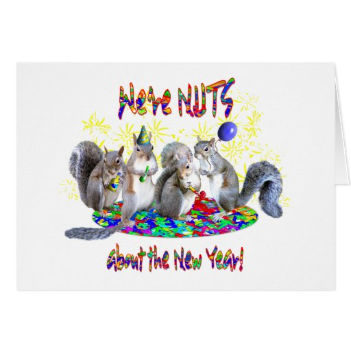Squirrels New Year Cards