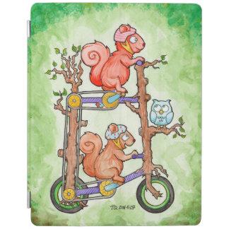 Squirrels on a tall bike iPad cover