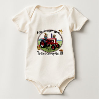 Squirrels on the Farm Baby Bodysuit