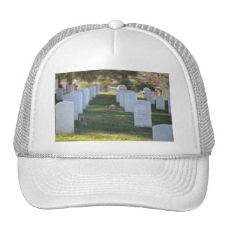 Squirrels playing in headstones trucker hat