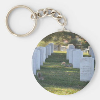 Squirrels playing in headstones key chains