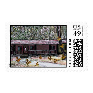 Squirrels Prepare for Winter Postage Stamps