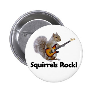 Squirrels Rock! Pinback Button