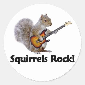 Squirrels Rock! Classic Round Sticker