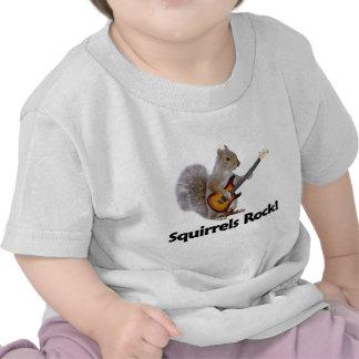 Squirrels Rock Tee Shirts