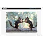 Squirrels Sharing a Peanut Photo Laptop Skins