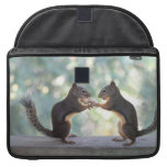 Squirrels Sharing a Peanut Photo Sleeve For MacBooks