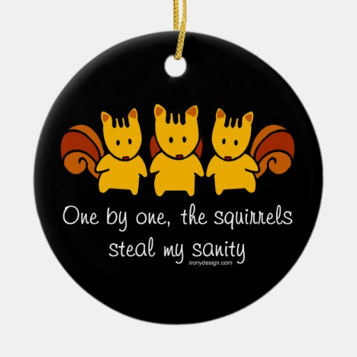 Squirrels steal my sanity christmas ornaments