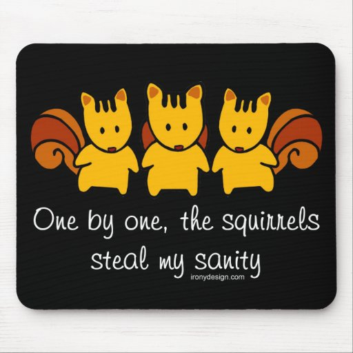 Squirrels steal my sanity mouse pad