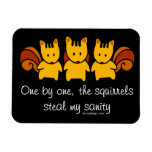 Squirrels steal my sanity rectangular photo magnet