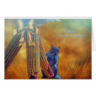 Squirrel's Thanksgving Card