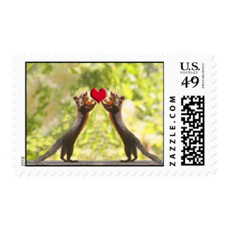 Squirrels with Heart Stamps