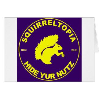 Squirreltopia-icono Tarjeta De Felicitación
