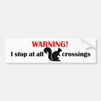 SquirrelXing Bumper Sticker