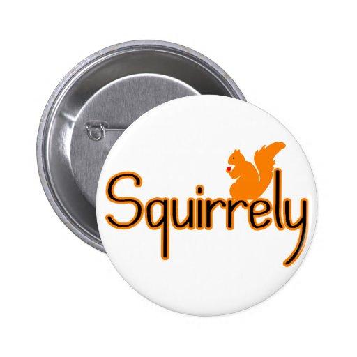 Squirrely 2 Inch Round Button